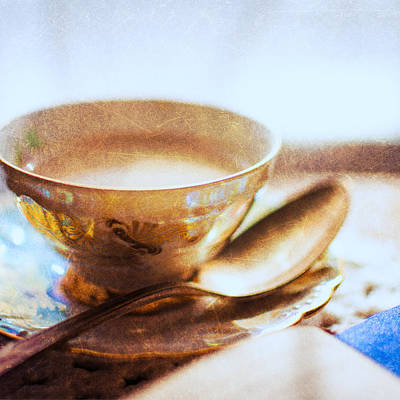 My Cup Of Tea Square Art Print by Jon Woodhams