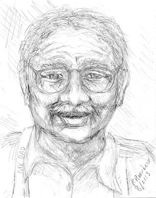 Drawing - My Dad by Ruth Renshaw