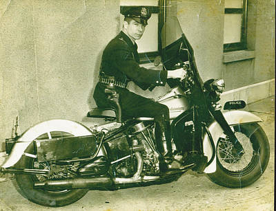 Photograph - My Daddy Motorcycle Cop by Diannah Lynch