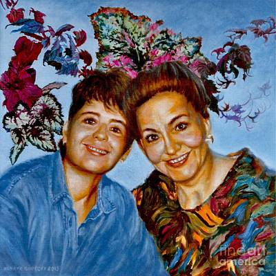 Painting - My Daughter And I by Clotilde Espinosa