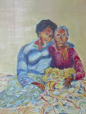 Ethiopian Woman Painting - My Dear Grandma by Esther Newman-Cohen