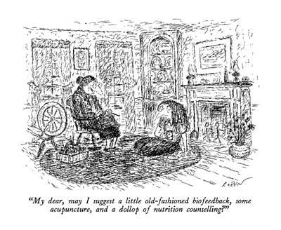 My Dear, May I Suggest A Little Old-fashioned Art Print by Edward Koren