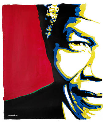 Political Mixed Media - My Dear Nelson Mandela by Nancy Mergybrower