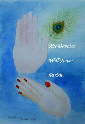Devotional Painting - My Devotee Will Never Perish by Geeta Biswas