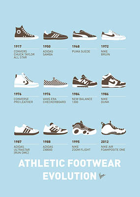 My Evolution Sneaker Minimal Poster Art Print