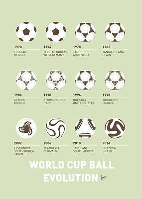 Surfers Digital Art - My Evolution Soccer Ball Minimal Poster by Chungkong Art