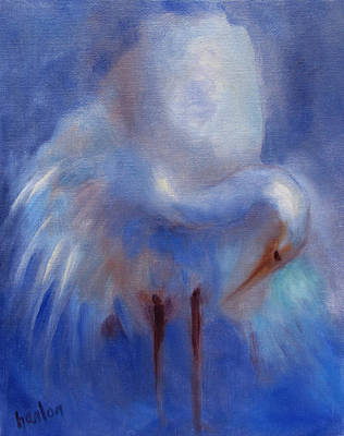 Painting - My Fair Egret by Susan Hanlon