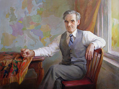 Art Print featuring the painting My Father Taras by Svitozar Nenyuk