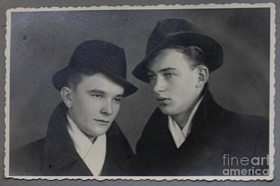 My Father With Good Friend .1945. Print by  Andrzej Goszcz