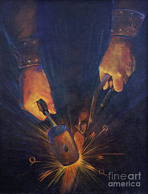 My Fathers Hands Art Print by Rob Corsetti
