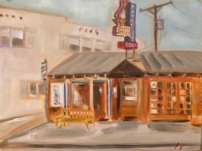 Santa Monica Painting - My Father's Office by Lindsay Frost