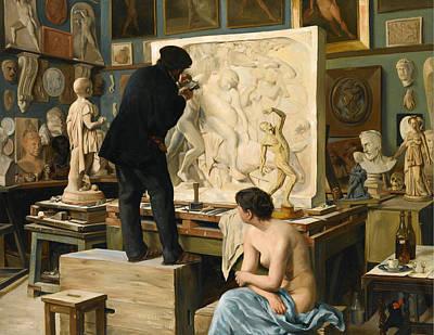 Dantan Painting - My Fathers Studio by Edouard Joseph Dantan