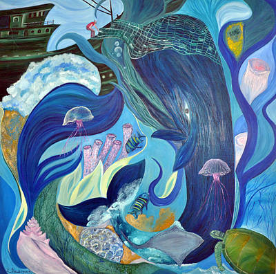 Green Sea Turtle Painting - My Father's World by Lynn Husemann