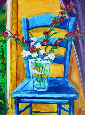 My Favorite Chair Art Print by Lisa V Maus