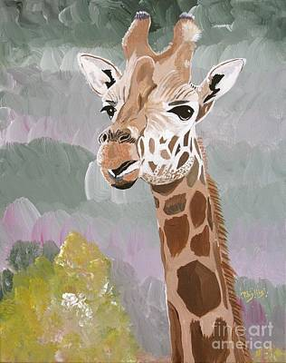 Painting - My Favorite Giraffe by Phyllis Kaltenbach