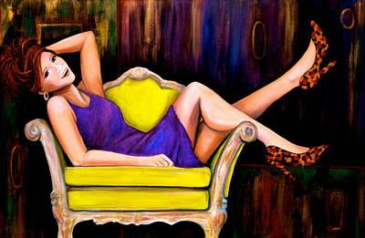 Jewel Tone Painting - My Favorite Girl by Debi Starr