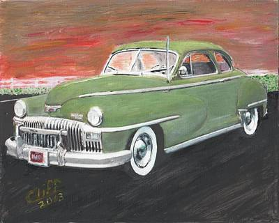 Desoto Car Painting - My First Car by Cliff Wilson