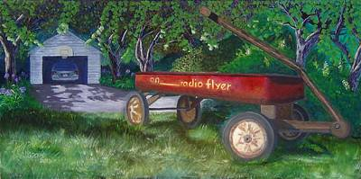 Radio Flyer Wagon Painting - My First Car by Ryan Williams