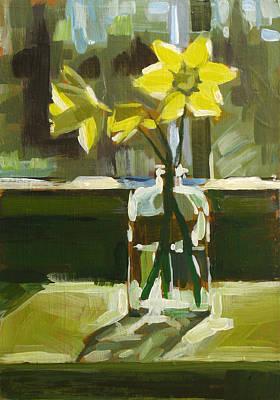 My First Daffodils Art Print by Annie Salness