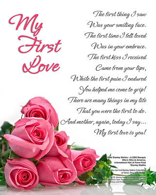 My First Love Poetry Art Print Art Print by Stanley Mathis