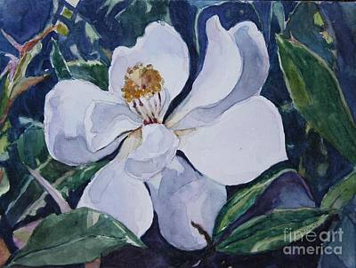 Painting - My First Magnolia by Jan Bennicoff