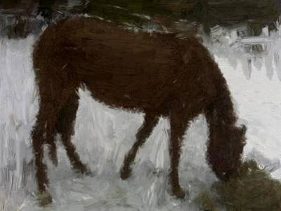 Horse Painting - My First Painting by Bruce Nutting