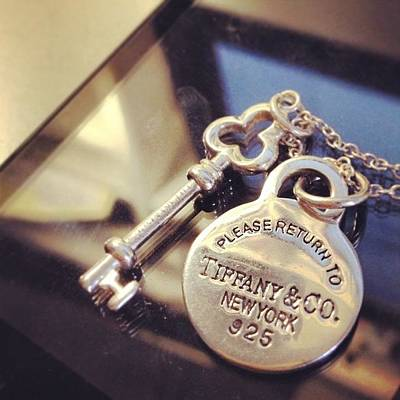 Jewelry Photograph - My #first #tiffanyco #jewelry by Vincy S