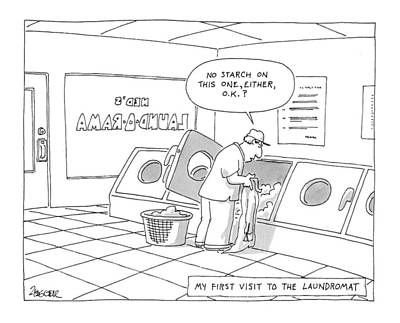 My First Visit To The Laundromat 'no Starch Art Print by Jack Ziegler