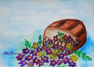 Painting - My Flower Basket by Ramona Matei