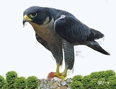 Falcon Digital Art - My Food by Wayne Bonney