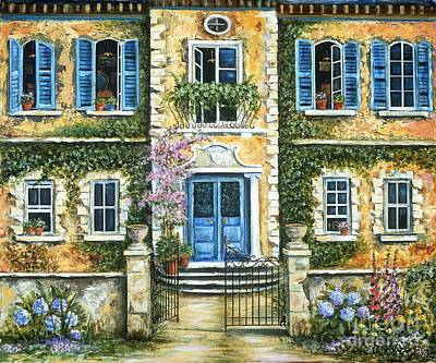 Stucco Painting - My French Villa by Marilyn Dunlap