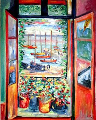 Painting - My French Window by Philip Corley