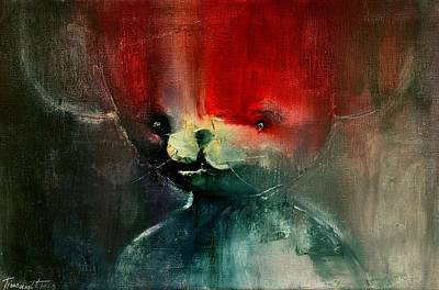Painting - My Friend Bear by David Figielek