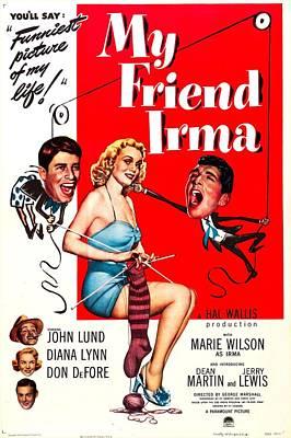 Dean Martin Poster Photograph - My Friend Irma, Us Poster, Center by Everett