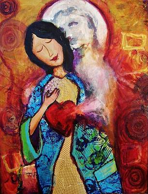 Betrothed Painting - My Friend The Holy Spirit by Dana Vacca