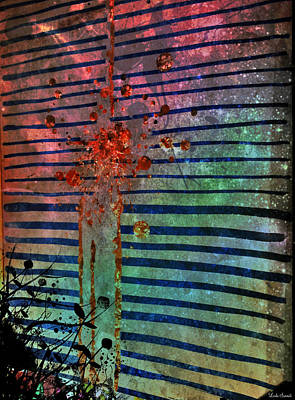 Abstract Movement Digital Art - My Galaxy Window by Linda Sannuti