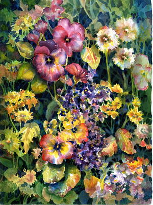 Wild Asters Painting - My Garden by Ann  Nicholson