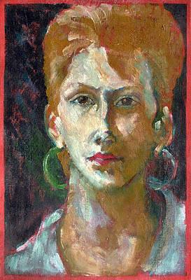 Painting - My Girlfriend by Florin Birjoveanu