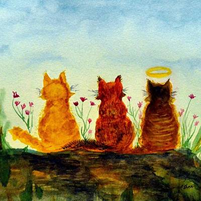 My Girls Square Art Print by Christine Shore
