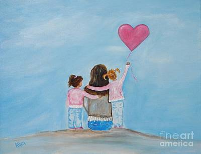 Painting - My Girls by Leslie Allen