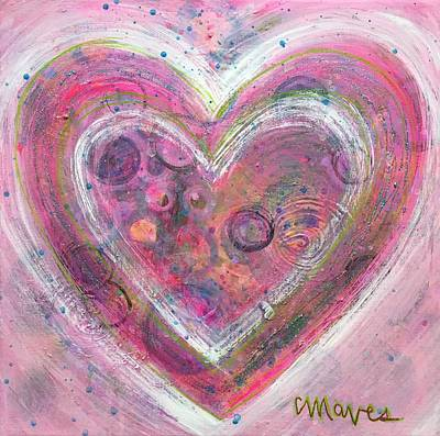 Painting - My Glittering Heart by Laurie Maves ART