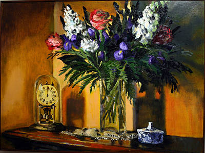 Painting - My Grandfather's Clock by Gaye White