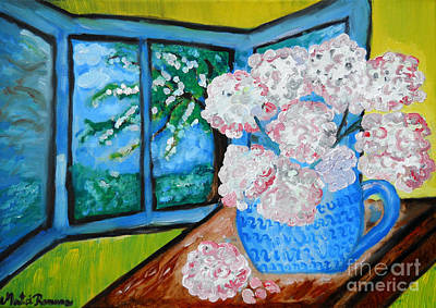 Painting - My Grandma S Flowers   by Ramona Matei