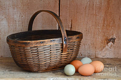 Photograph - My Grandma's Egg Basket by Mary Carol Story