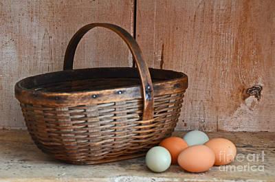 My Grandma's Egg Basket Art Print