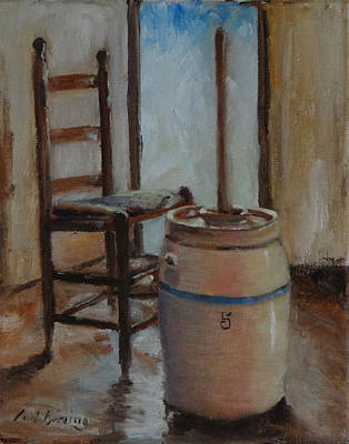 Painting - My Grandmother's Churn by Carol Berning