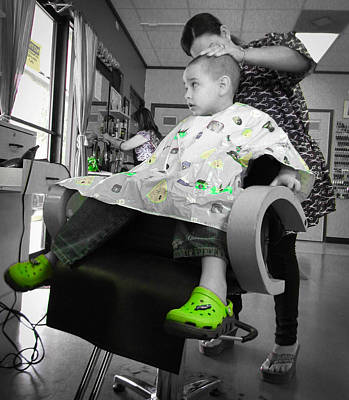 Photograph - My Green Shoes On Haircut Day by Christy Usilton