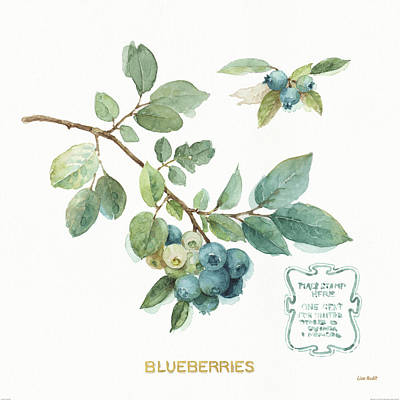 Blueberry Painting - My Greenhouse Fruit II by Lisa Audit