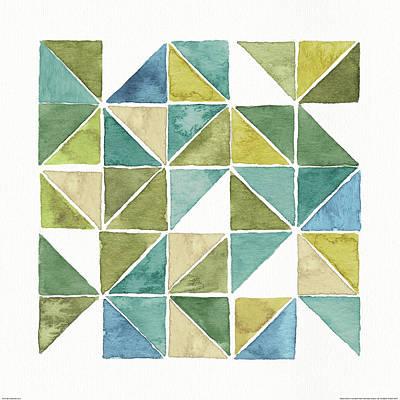 Modern Painting - My Greenhouse Geo II by Lisa Audit