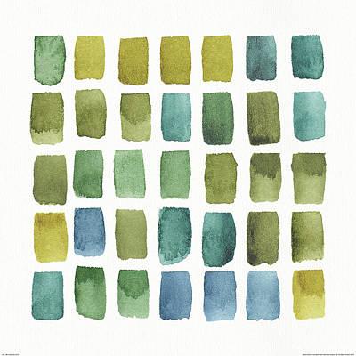 Grid Painting - My Greenhouse Geo IIi by Lisa Audit